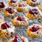 Raspberry Hazelnut Thumbprint Cookies