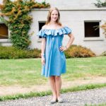Off-the-Shoulder Denim Dress