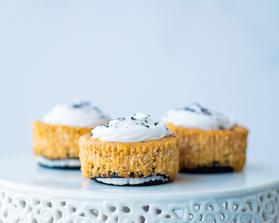 Pumpkin Oreo Mini Cheesecake