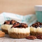 Caramel Pecan Mini Cheesecakes