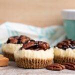 Caramel Pecan Mini Cheesecakes