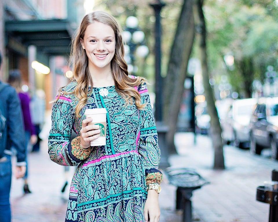 Boho dress and Starbucks