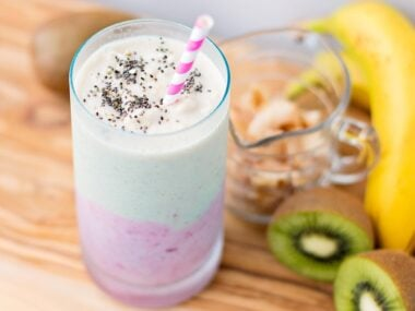 Coconut Strawberry Kiwi Smoothie