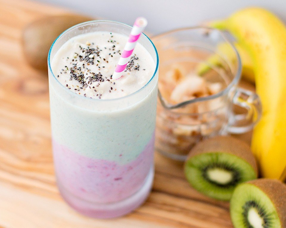 Coconut Strawberry Kiwi Smoothie