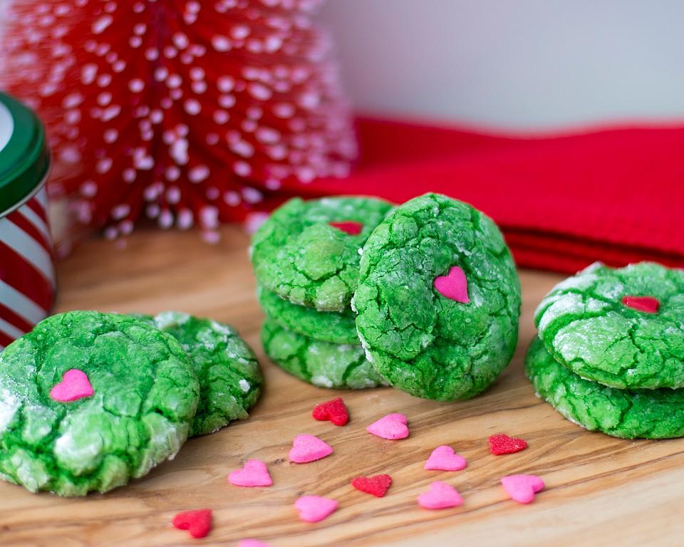 Valentine Crinkle Cookies Xoxobella