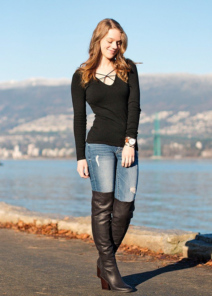 ChicWish Crossed Knit Top