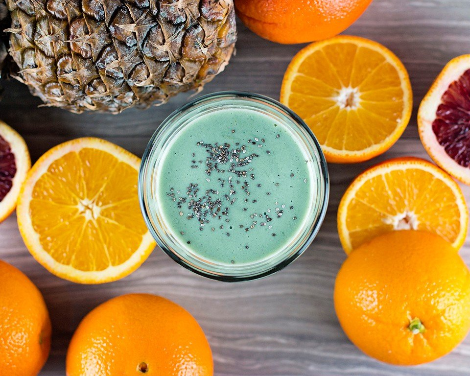 Citrus Pineapple Green Smoothie