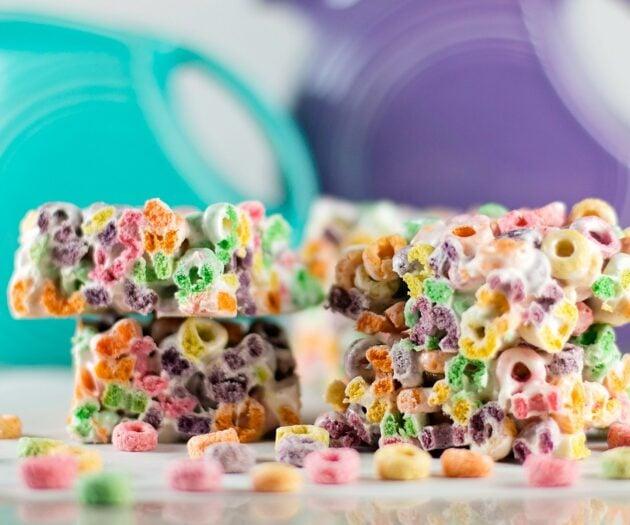 Fruit Loop Marshmallow Bars