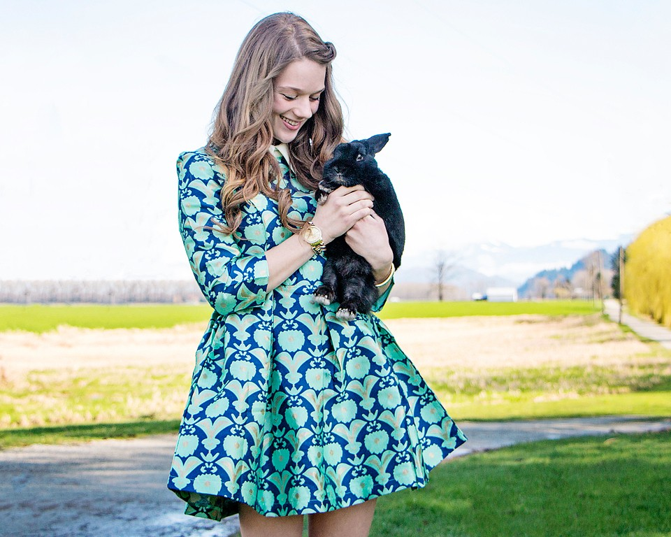 Easter Dress and a Bunny