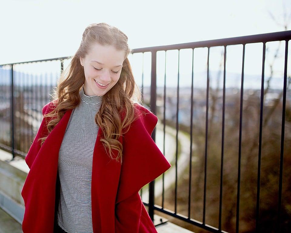 Red Jacket Jean & Striped Top