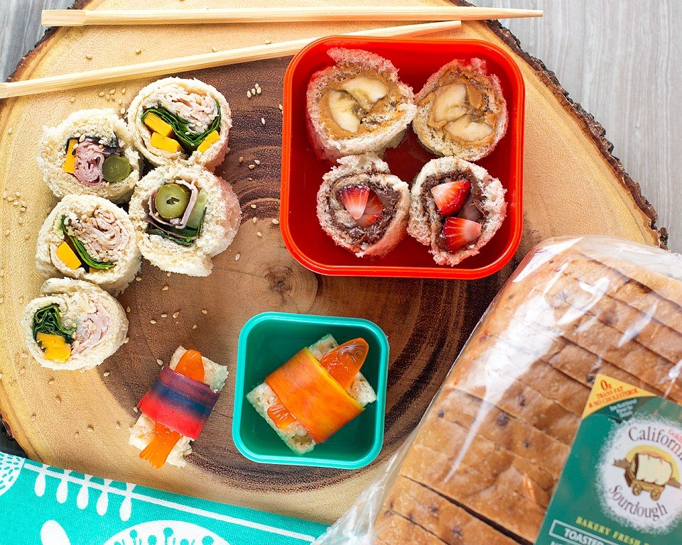 Sourdough Bread Sandwich Sushi