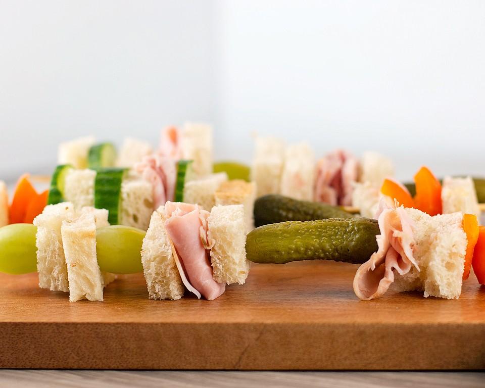 Sourdough Bread Sandwich Skewers