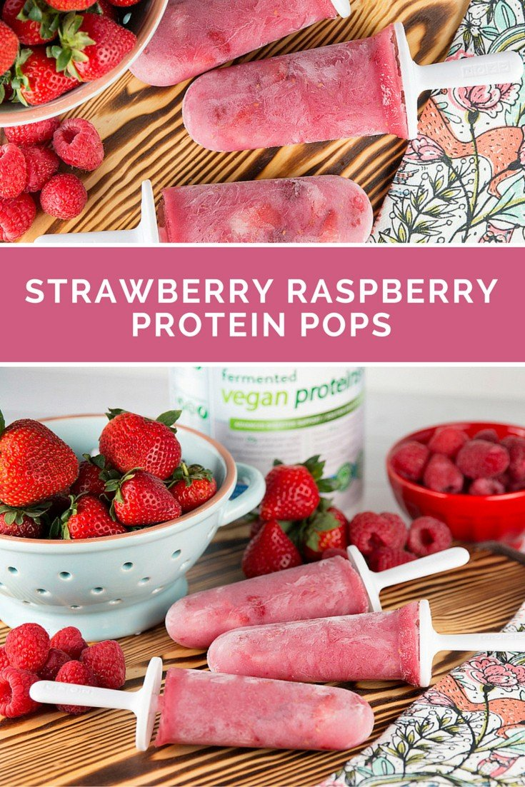 Strawberry Raspberry Protein Pops