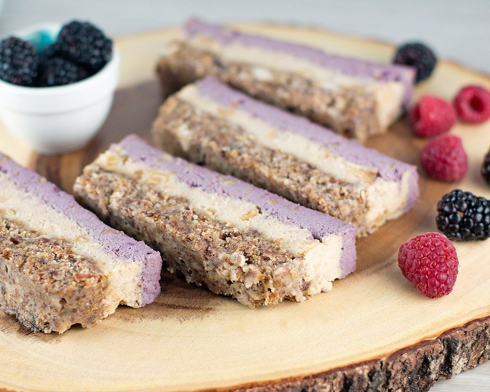 Very Berry Layered Vegan Bars