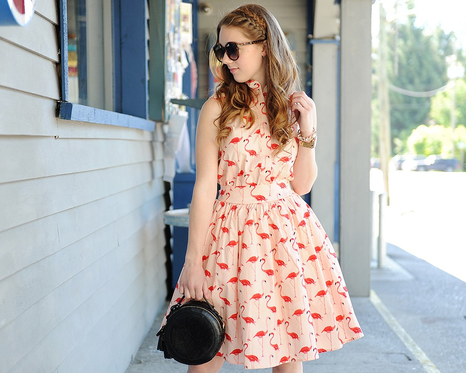 Chicwish Flamingo Print Dress