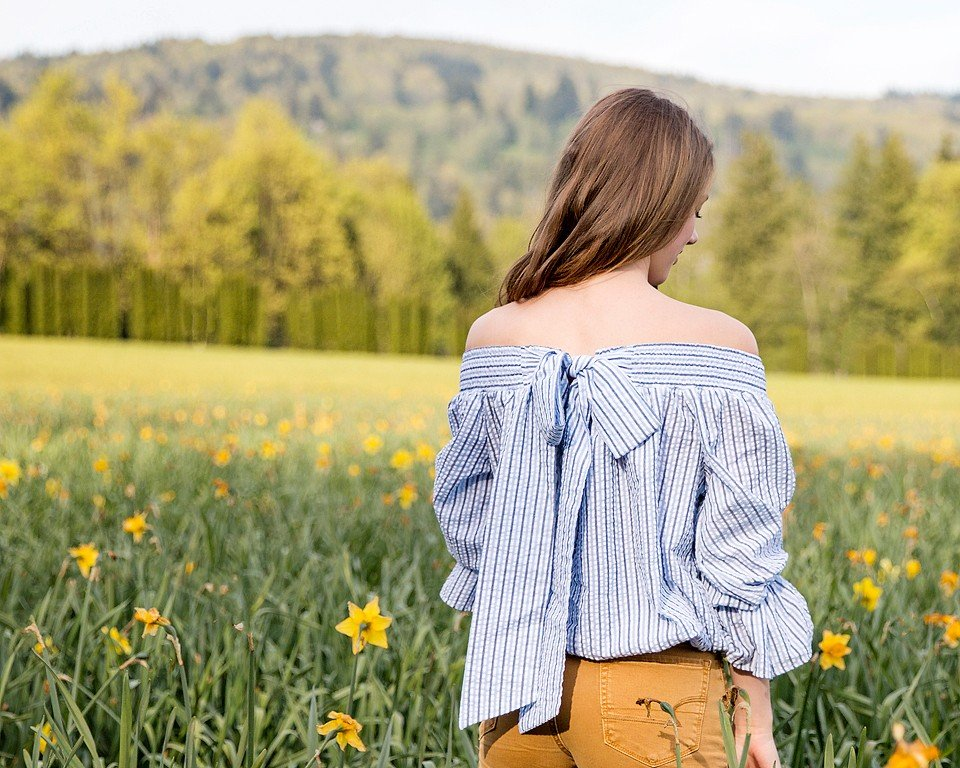 ChicWish Off the Shoulder Top in Daffodils
