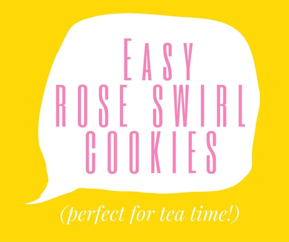 Easy Rose Swirl Cookies