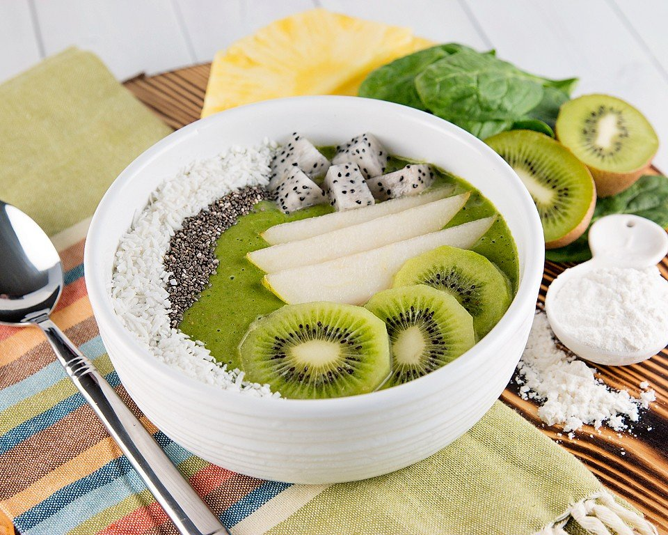 Green Greek Yogurt Proteins+ Smoothie Bowl