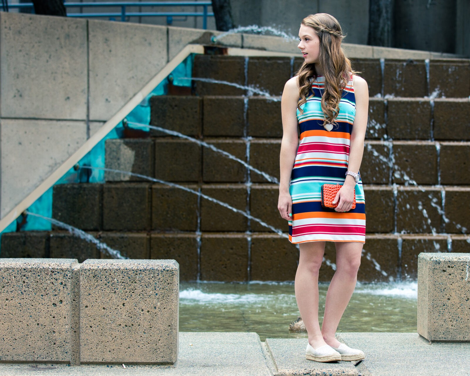 Colorful Striped Sleeveless Dress