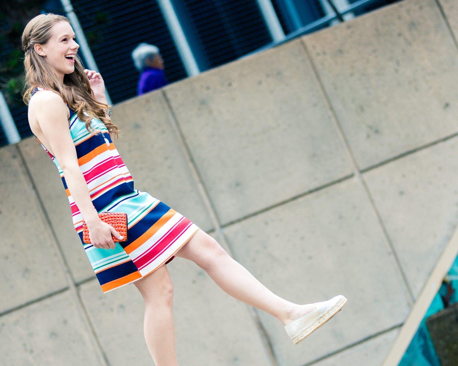 Colorful Striped Sleeveless Dress