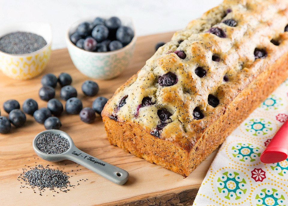 Lemon Blueberry Poppy Seed Loaf
