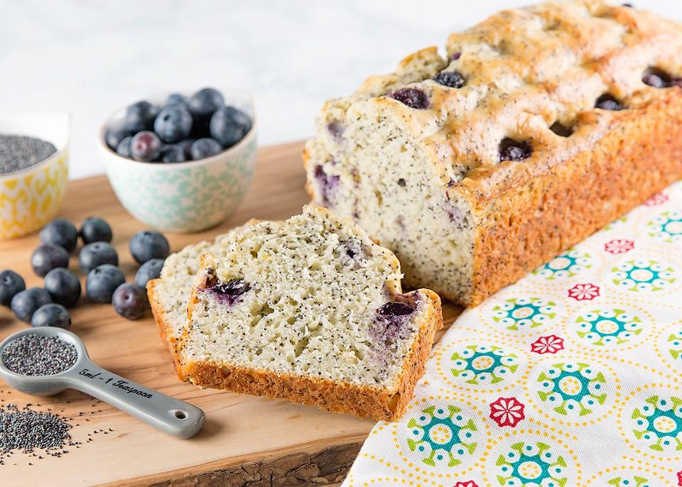 Lemon Blueberry Poppy Seed Loaf