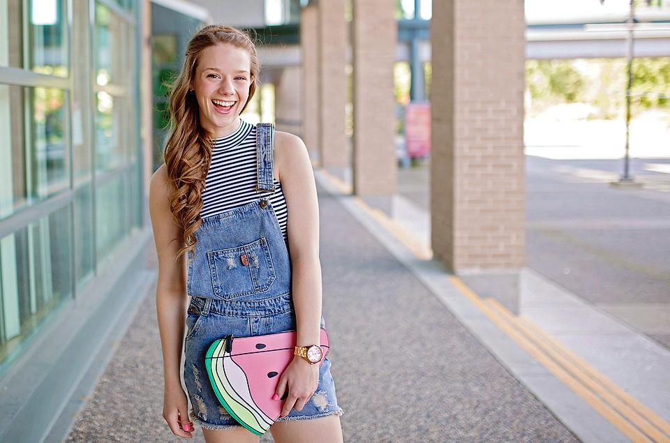 2f05fb1144a Watermelon Clutch and Overalls