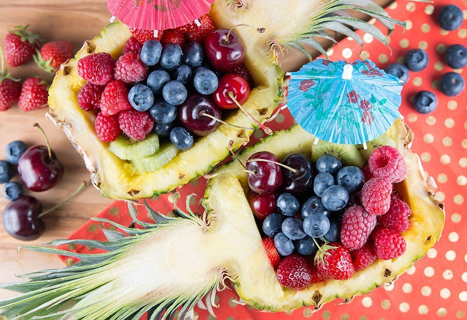 Pineapple Bowl Fruit Salad