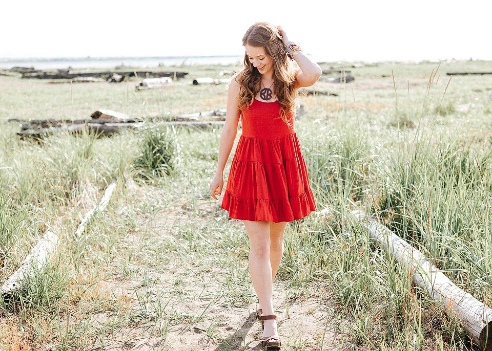 Red Backless Ruffle Dress
