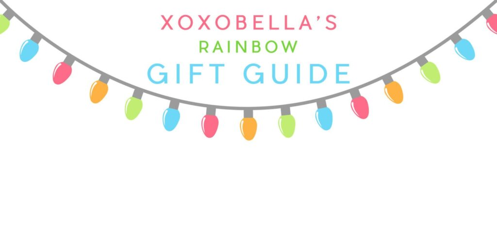 Blogger Bella Bucchiotti of xoxoBella shares a holiday gift guide featuring her favourite rainbow items for your best friend or girls.