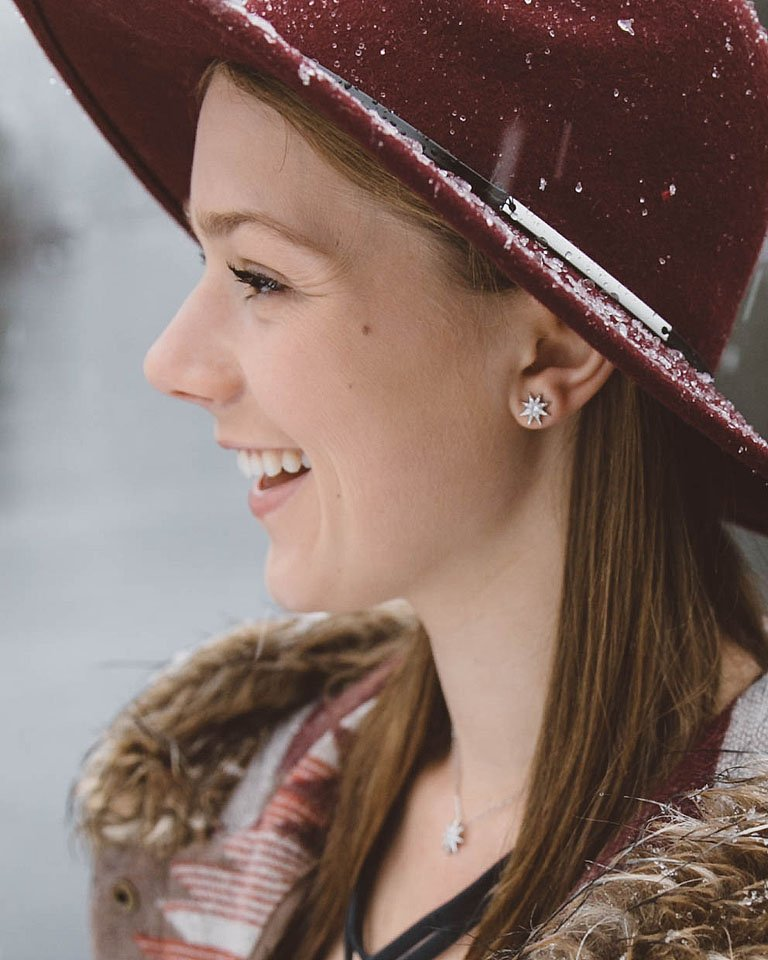 Blogger Bella Bucchiotti of xoxoBella is snow days and adding a little bling to the everyday with Swarovski jewelry from Macy's. #GiveBrilliant Photo by Ben Prescott