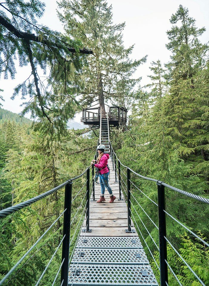Blogger Bella Bucchiotti of xoxoBella.com shares about her road trip to Whistler, BC with Ford Canada. They zipline and go on a doors off heli ride. #GoFurther150