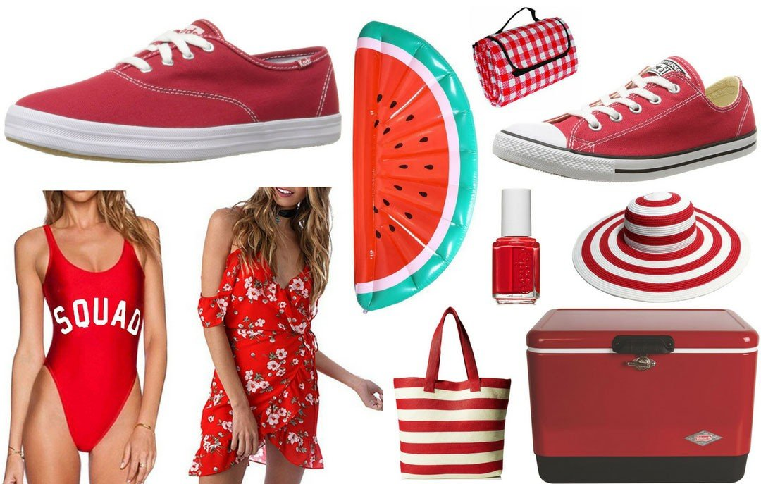 Blogger Bella Bucchiotti of xoxoBella.com shares some favorite red products from Amazon.ca which are perfect for summer and Canada Day.