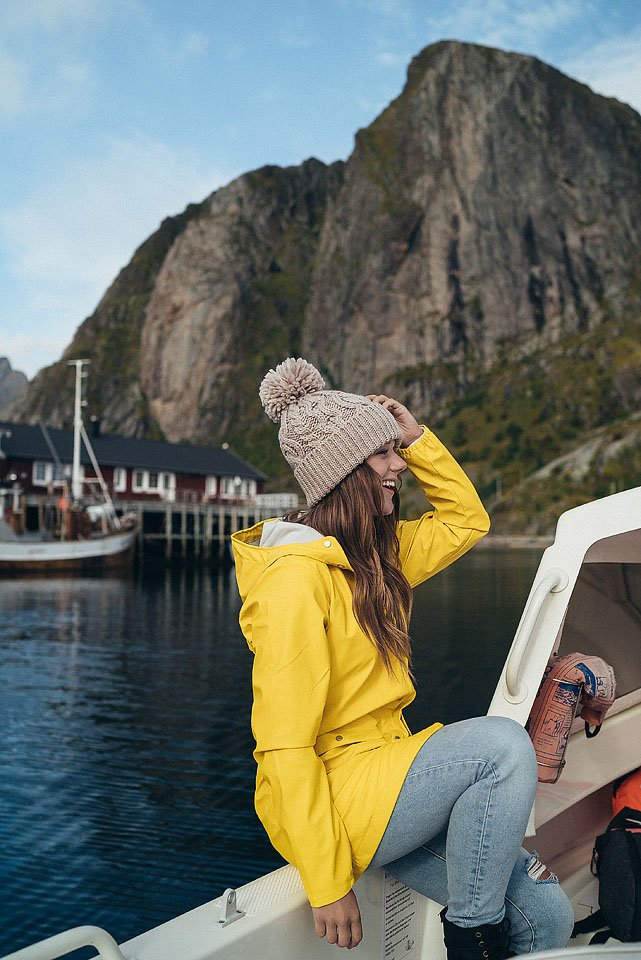 Travel blogger, Bella Bucchiotti of xoxoBella, shares about staying at the Eliassen Rorbuer at Hamnøy in the Lofoten Islands. This is one of the best places to visit in Norway!