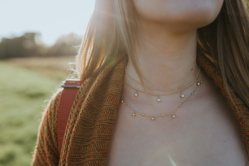 Blogger Bella Bucchiotti of xoxoBella.com shares a necklace that she designed in collaboration with Olive+Piper.