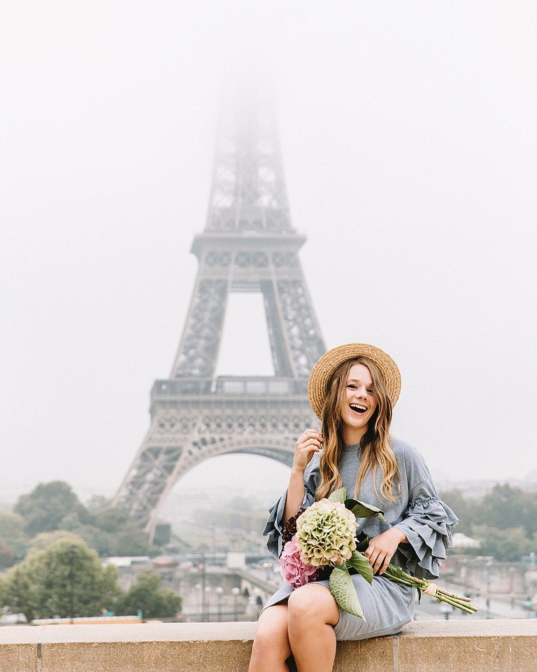 Fashion blogger, Bella Bucchiotti of xoxoBella shares the outfit that she wore to the Eiffel Tower with Flytographer for photos.