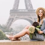 Eiffel Tower Dreaming with Flytographer