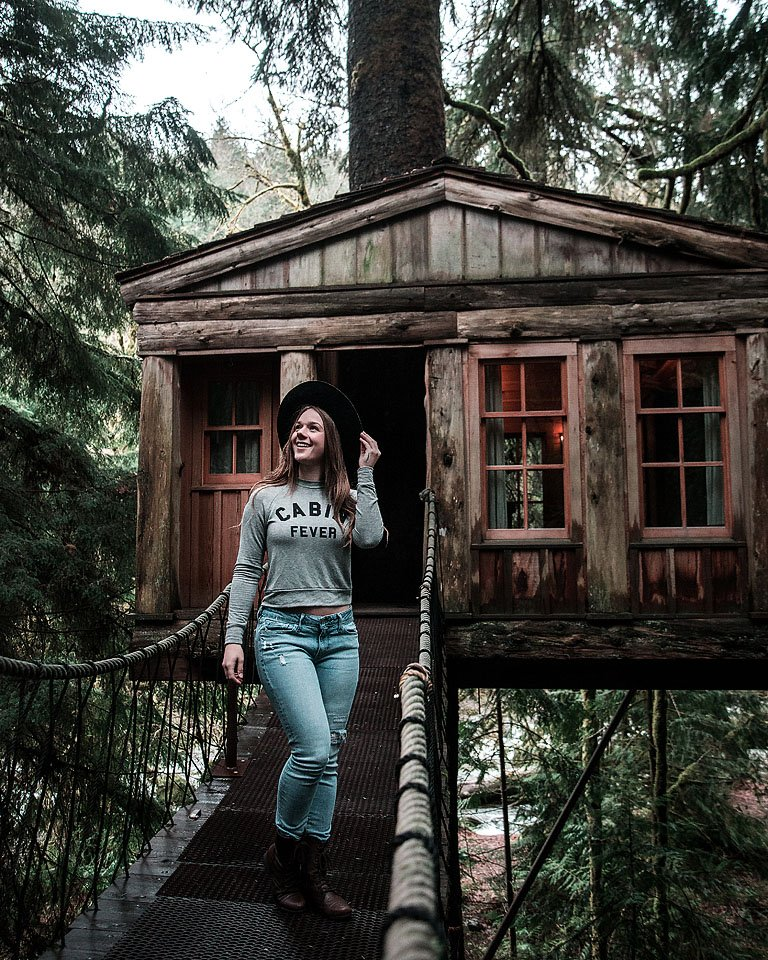 Blogger Bella Bucchiotti of xoxoBella.com shares her trip to tree house point in Seattle Washington.