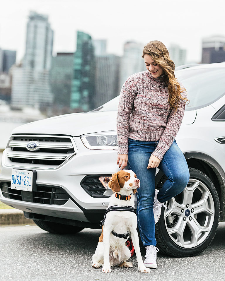 Blogger Bella Bucchiotti of xoxoBella.com shares her little adventure with Ford Canada and her brittany spaniel Beau for National Love Your Pet Day.