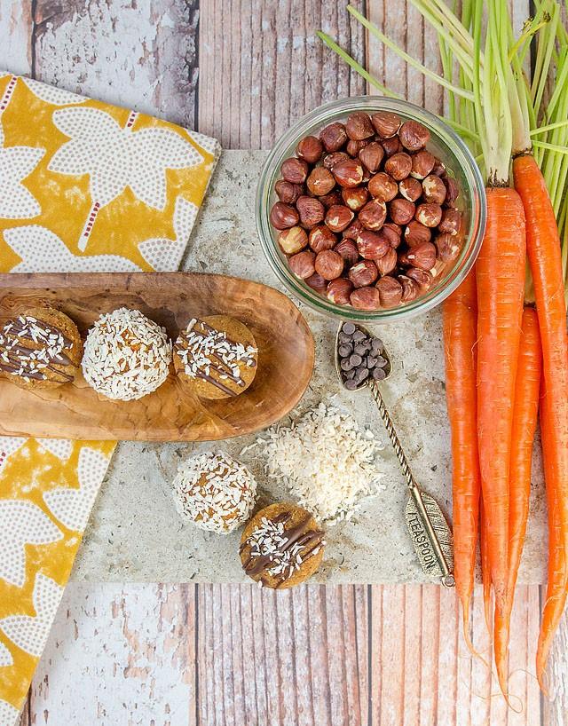 Vegan No Bake Carrot Cake Energy Boosters