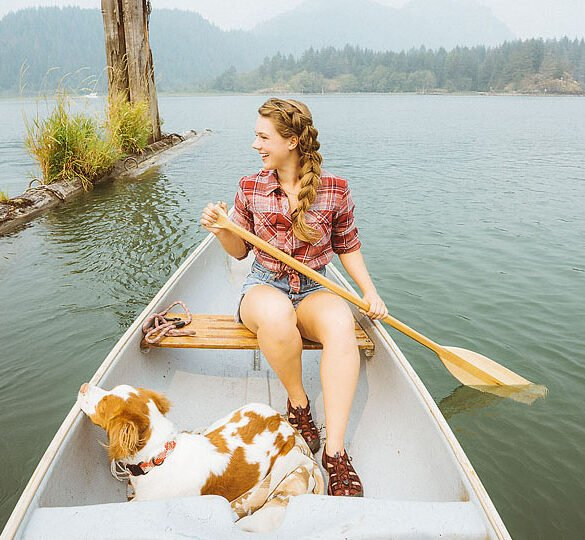Blogger Bella Bucchiotti of xoxoBella.com shares about outdoor adventures with her dog Beau and her love for her Keen Newport sandals.