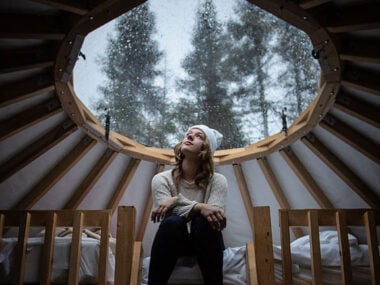 Blogger Bella Bucchiotti of xoxoBella.com shares unique accommodations in Quebec like the yurt she stayed in at Imago Village.