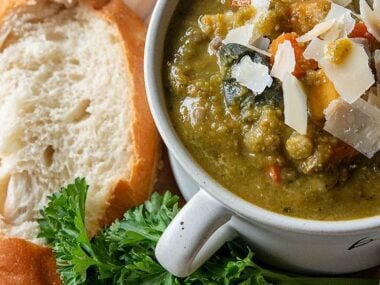 Blogger Bella Bucchiotti of xoxoBella.com shares a recipe for split pea lentil soup which is dairy free, gluten free and made in a crock pot. Everyone loves comfort food and this is a great recipe to try.