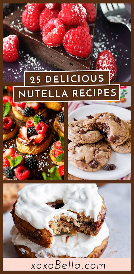 Blogger Bella Bucchiotti of xoxoBella.com shares a round-up of delicious Nutella recipes. These are Nutella recipes to make now for World Nutella Day. All the best things to make with Nutella.