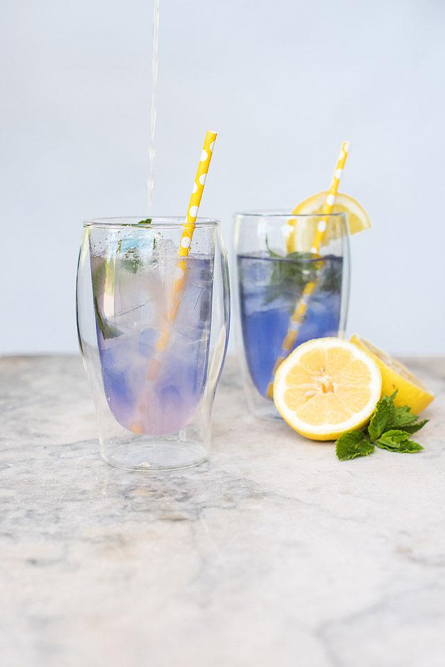 Recipe and Lifestyle blogger Bella Bucchiotti of xoxoBella.com shares a recipe for color changing lemonade made with butterfly pea powder.