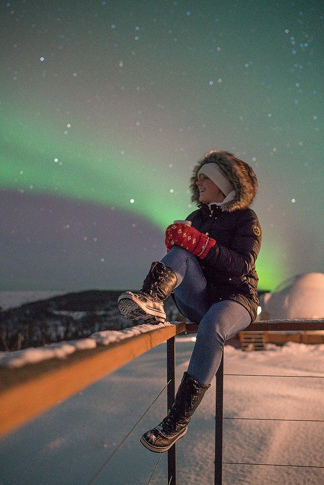 Travel blogger, Bella Bucchiotti of xoxoBella shares about her trip to Fairbanks, Alaska. She went in March and experienced the aurora at the Borealis Basecamp.