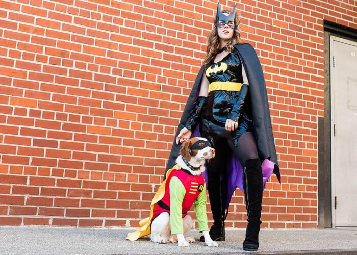 Lifestyle blogger, Bella Bucchiotti of xoxoBella shares dog and owner Halloween costume ideas. These matching dog costumes are so cute and not so scary!