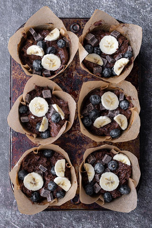 Food blogger, Bella Bucchiotti of xoxoBella, shares a recipe for blueberry banana muffins. These tasty double chocolate muffins will become your favourite gluten free muffin recipe.
