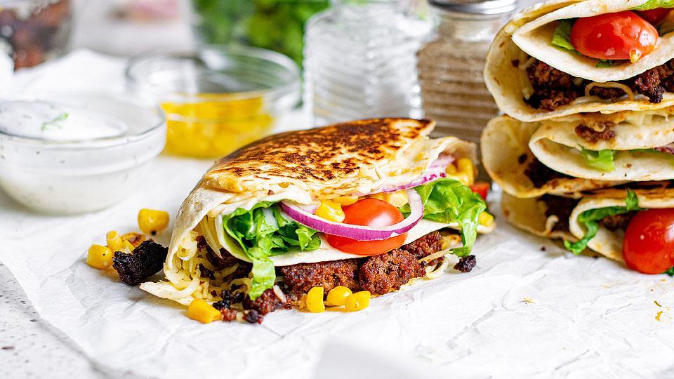 Crunchy Beef Tortilla Folded Wrap Tik Tok Recipe Xoxobella