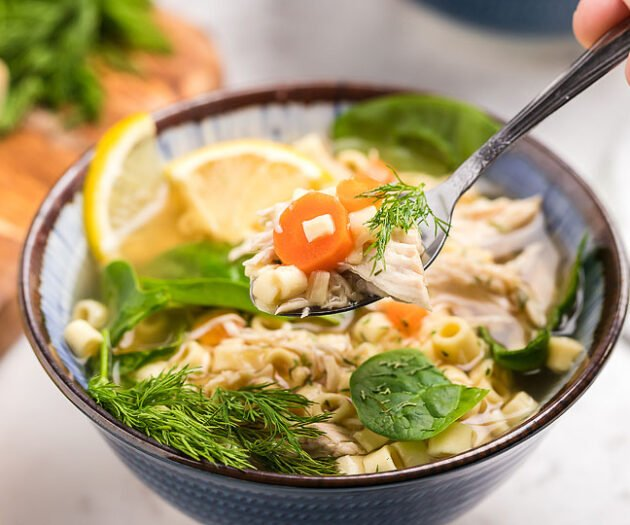Food blogger, Bella Bucchiotti of xoxoBella, shares a recipe for authentic Greek lemon chicken soup. You will love this avgolemono soup recipe that you can make in the slow cooker.